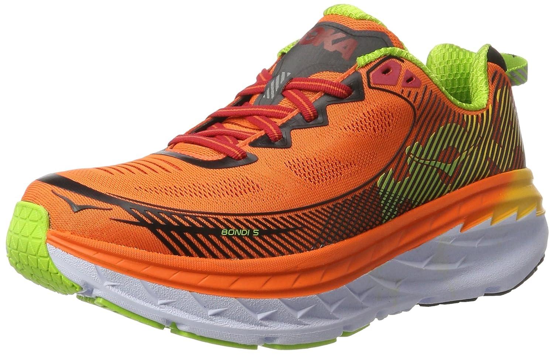 Red orange gold Hoka One One Men's M Bondi 5 Running shoes