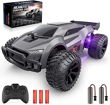 Amazon Com Epochair Remote Control Car 2 4ghz High Speed Rc Cars Offroad Hobby Rc Racing Car With 2 Rechargeable Batteries And Led Lights Electric Toy Car Gift For 3 4 5 6