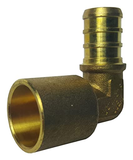 "100 LEAD-FREE Brass Crimp Fittings 1//2/"" PEX x 1//2/"" Female Sweat Adapters"