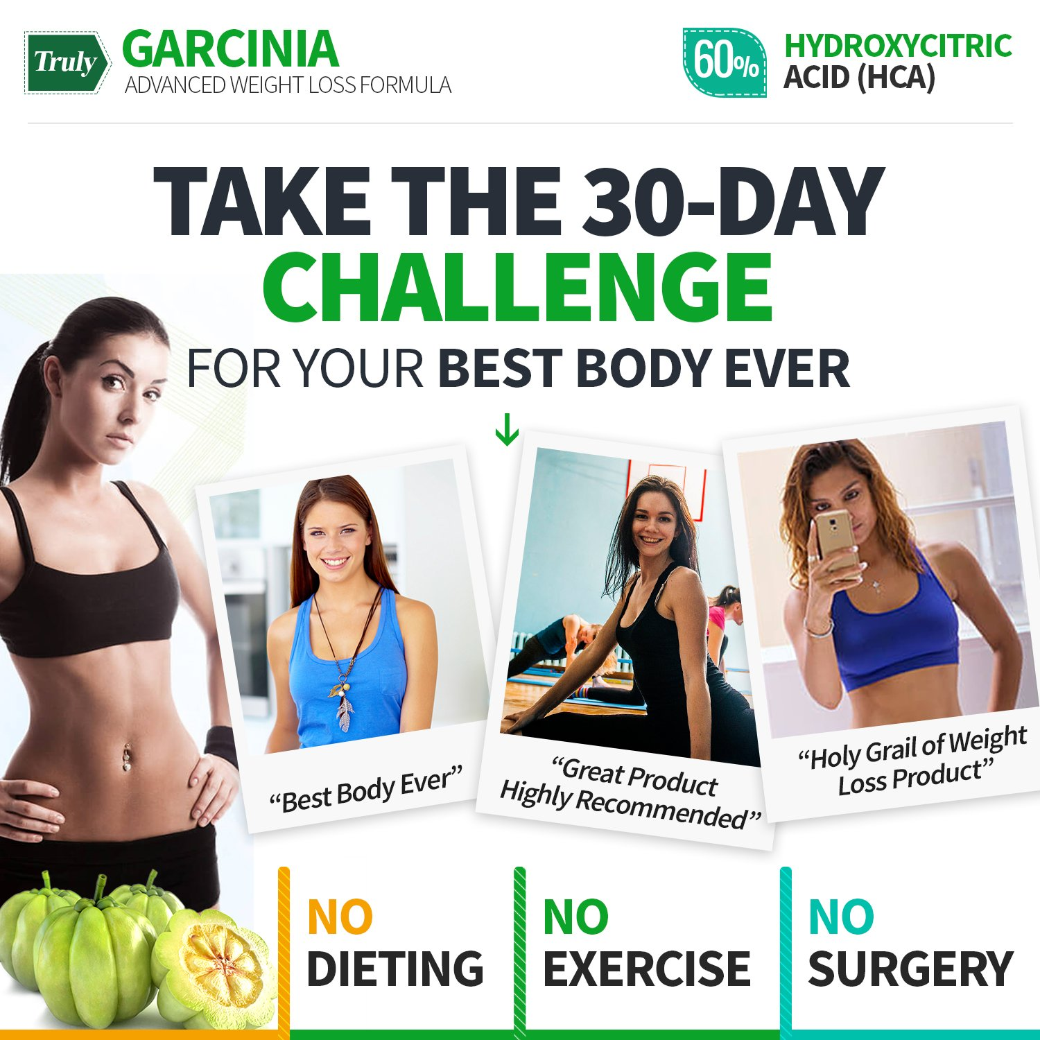 Truly Garcinia- Garcinia Cambogia- Ultra Premium Weight Management Formula-Natural And Potent Weight Loss Pills For Men And Women – Burn Belly Fat – Metabolism Booster – Powerful Antioxidant by Truly (Image #4)