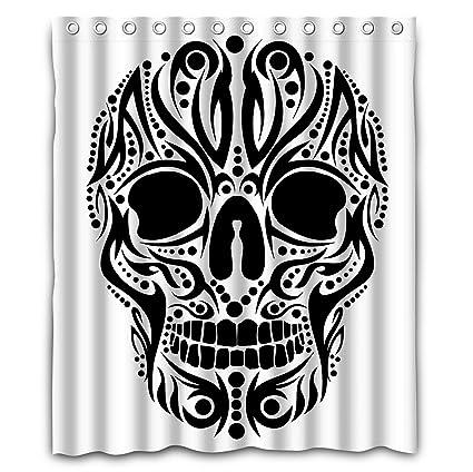 nlbh diseños tatuaje tribal Calavera Vector Art ventana cortinas/drape/paneles/tratamiento poliéster