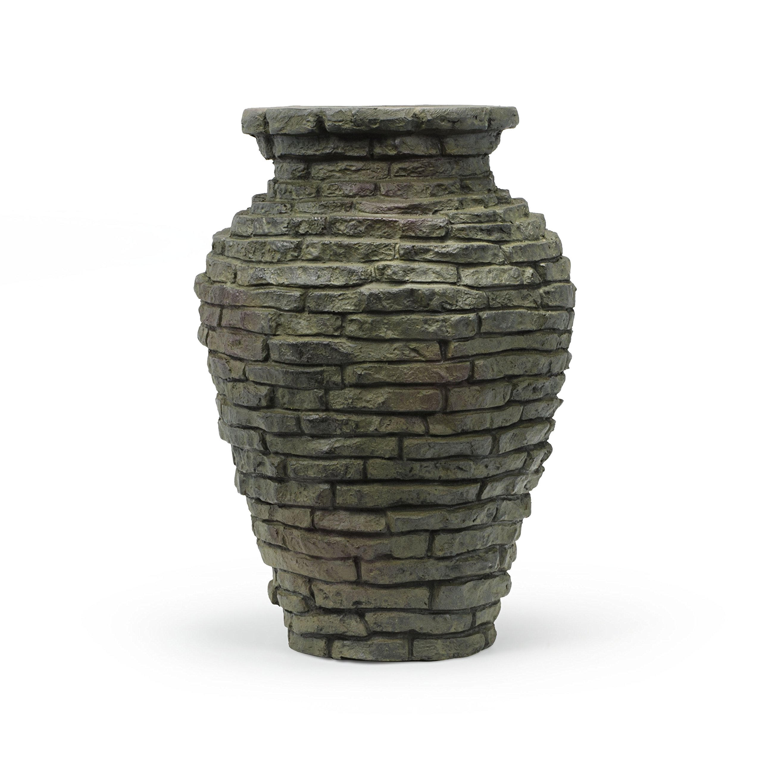 Aquascape Stacked Slate Urn Water Fountain for Landscape and Garden, Mini | 58014