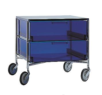 Kartell 02004l2 Mobil Container Plastik Blau 475 X 48 X 49 Cm