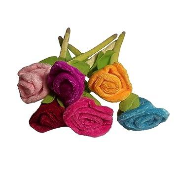 Bolígrafos de rosas de peluche, ramo de flores (12 unidades)