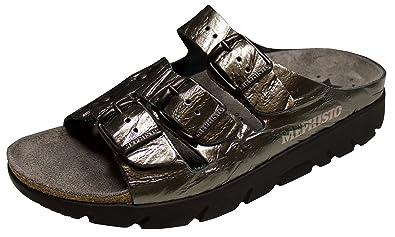 83be059fe2 Amazon.com | Mephisto Zach Grey Full Grain Leather Sandal (37 M EU ...
