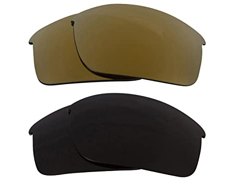 7e5a01bdd71 Image Unavailable. Image not available for. Color  Bottle Rocket  Replacement Lenses Polarized Black   Gold by SEEK fits OAKLEY