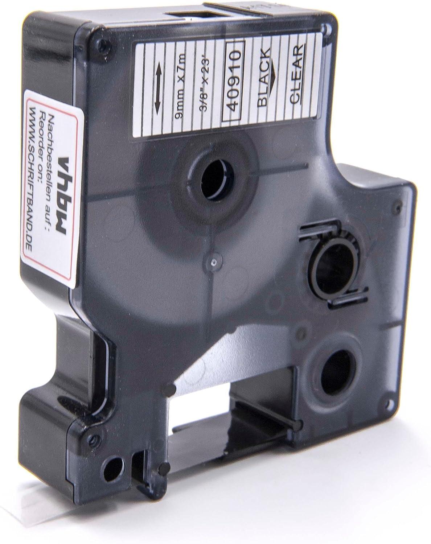 2X Schriftband-Kassetten D1 40920 wei/ß auf farblos 9mm x 7m kompatibel f/ür DYMO LabelManager LM 160 210D 220P 260P 280 360D 420P 450D 500TS PnP MobileLabeler LabelPoint LabelWriter LW 400 450 Duo