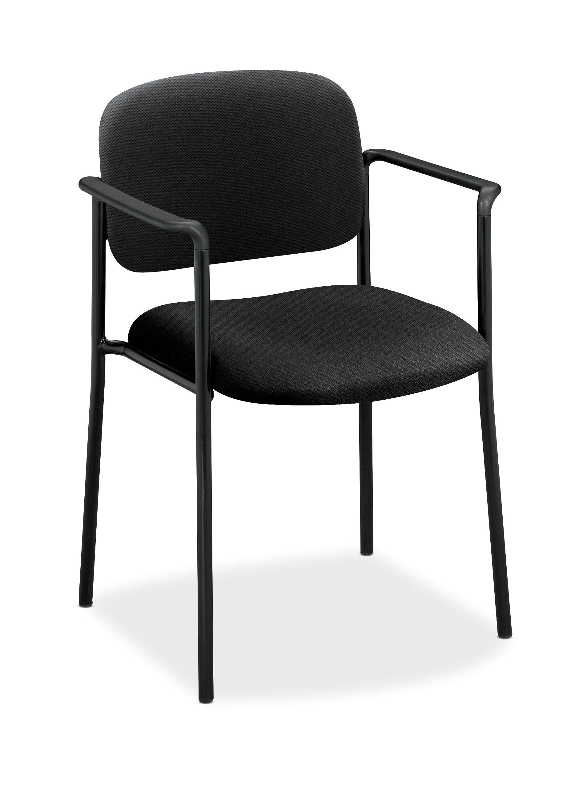 HON Scatter Guest Chair - Upholstered Stacking Chair with Arms, Office Furniture, Black (VL616)