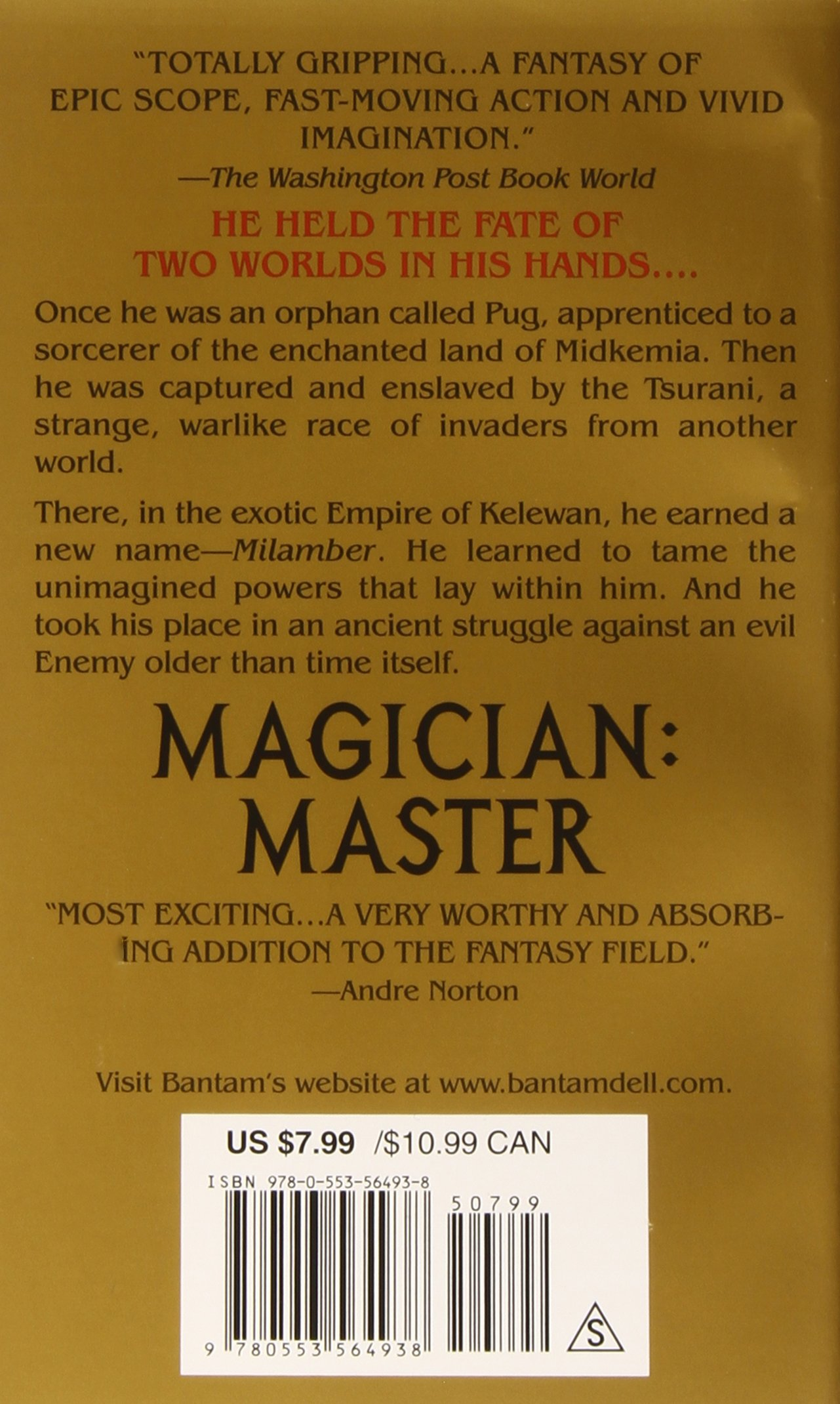 Magician: Master (riftwar Saga, Book 2): Raymond E Feist: 9780553564938:  Amazon: Books