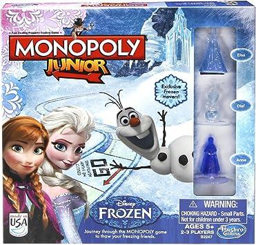 Disney Frozen Monopoly, Juego de mesa Junior, con diseño Frozen (versión en inglés): Amazon.es: Juguetes y juegos