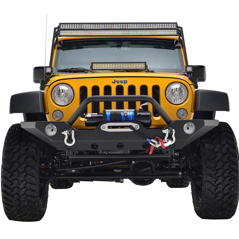 Paramount Restyling 51-0469 Black 50 Double LED Bar Mount Kit Jeep Wrangler JK