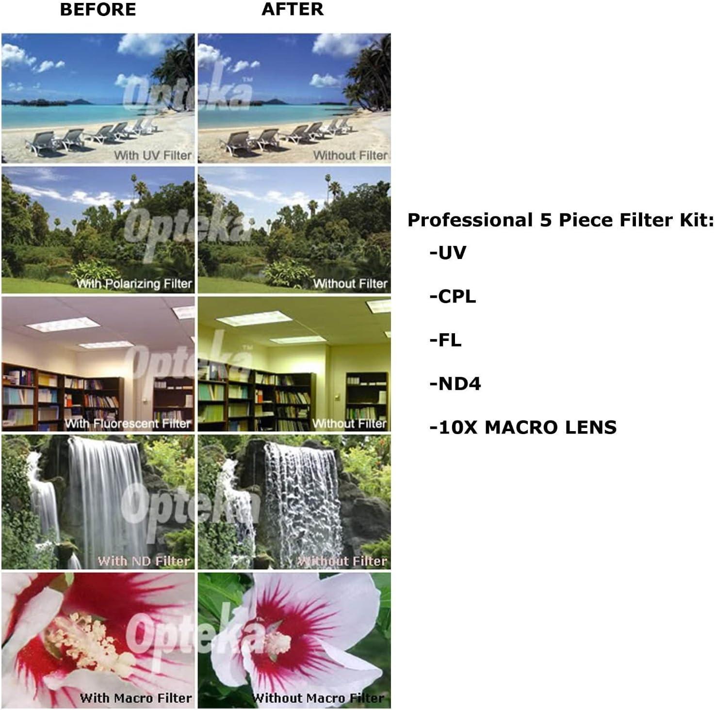 2.2x Extreme High Definitio 10 Piece Ultimate Lens Package For the Nikon D100 D200 D300 D300S D700 D7000 D7100 D3000 D3100 D3200 D5000 D5100 D5200 D5300 D40 D40X D50 D60 D70 D90 D80 Includes .43x High Definition II Wide Angle Panoramic Macro Fisheye Lens