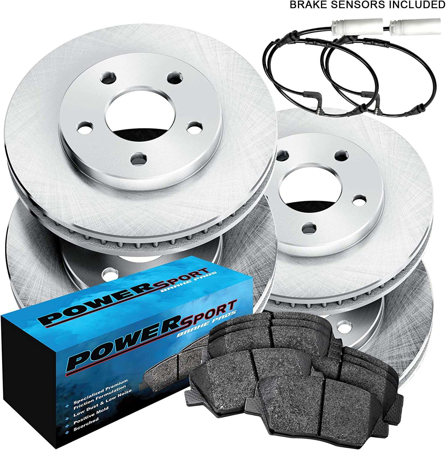 Rear Ceramic Discs Brake Pads For 2002 2003 2004 2005 2006-2008 mini cooper
