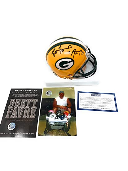 b6e7eedffe2 Image Unavailable. Image not available for. Color  Aaron Rodgers Brett  Favre Green Bay Packers Dual Signed Autograph ...