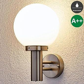 Edelstahl Außen Wand Lampe Garten Beleuchtung Bewegungsmelder Leuchte Hof Weg