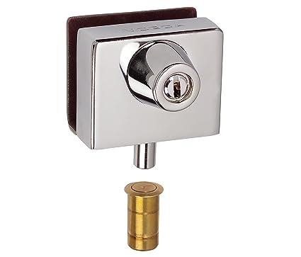 Inceca 2690006 - Cerradura para puerta de vidrio (acero)