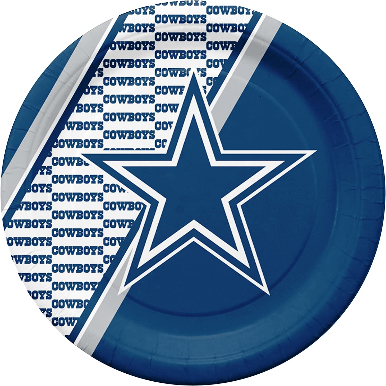 NFL Dallas Cowboys Disposable Paper Plates