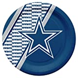 NFL Dallas Cowboys Disposable Paper Plates, Pack of