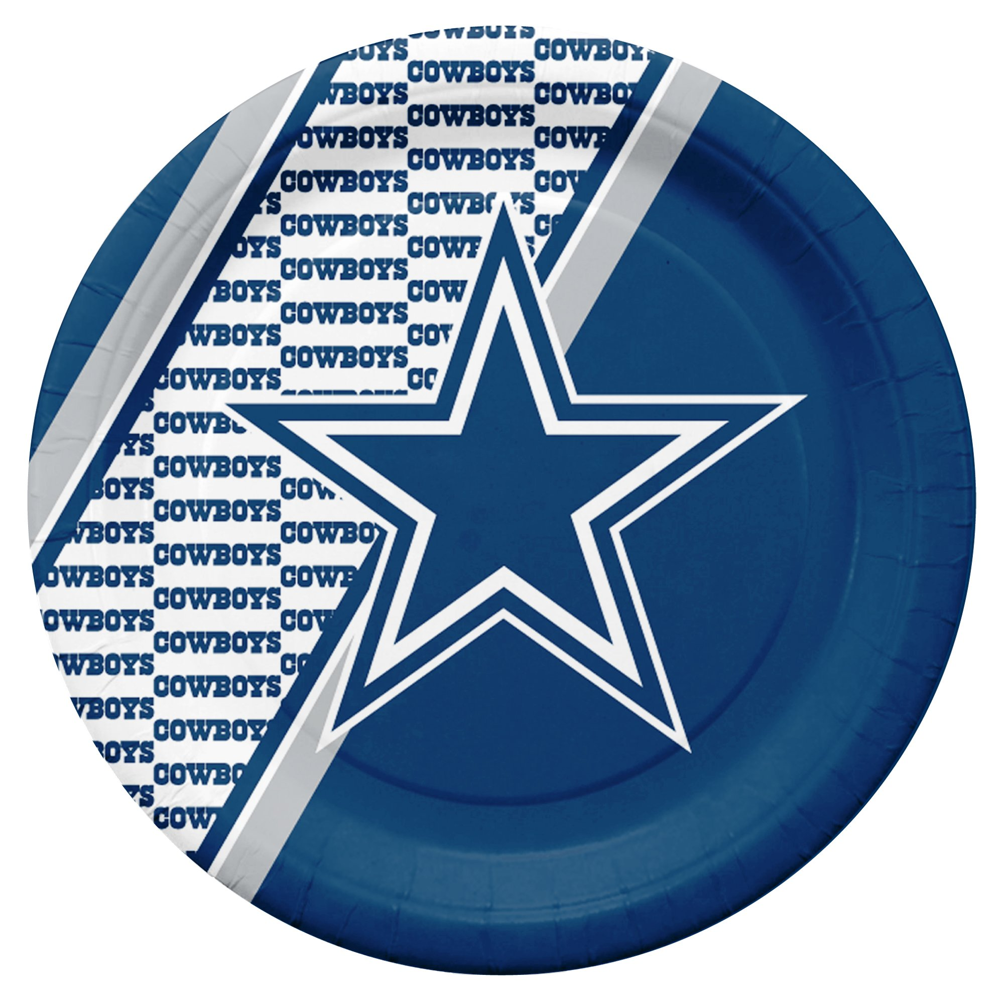 NFL Dallas Cowboys Disposable Paper Plates, Pack of 20