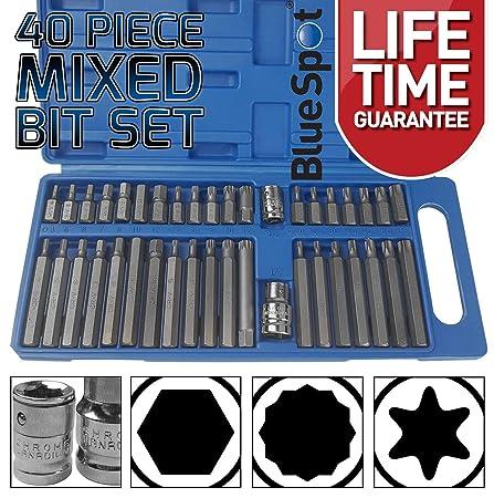 Special Offer Mixed Torx Star Spline Hex Socket Bit Set 3//8 1//2 Drive With Case