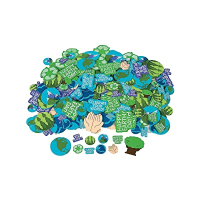 Earth Day Adhesive Foam Shapes - Crafts for Kids and Fun Home Activities: Toys & Games