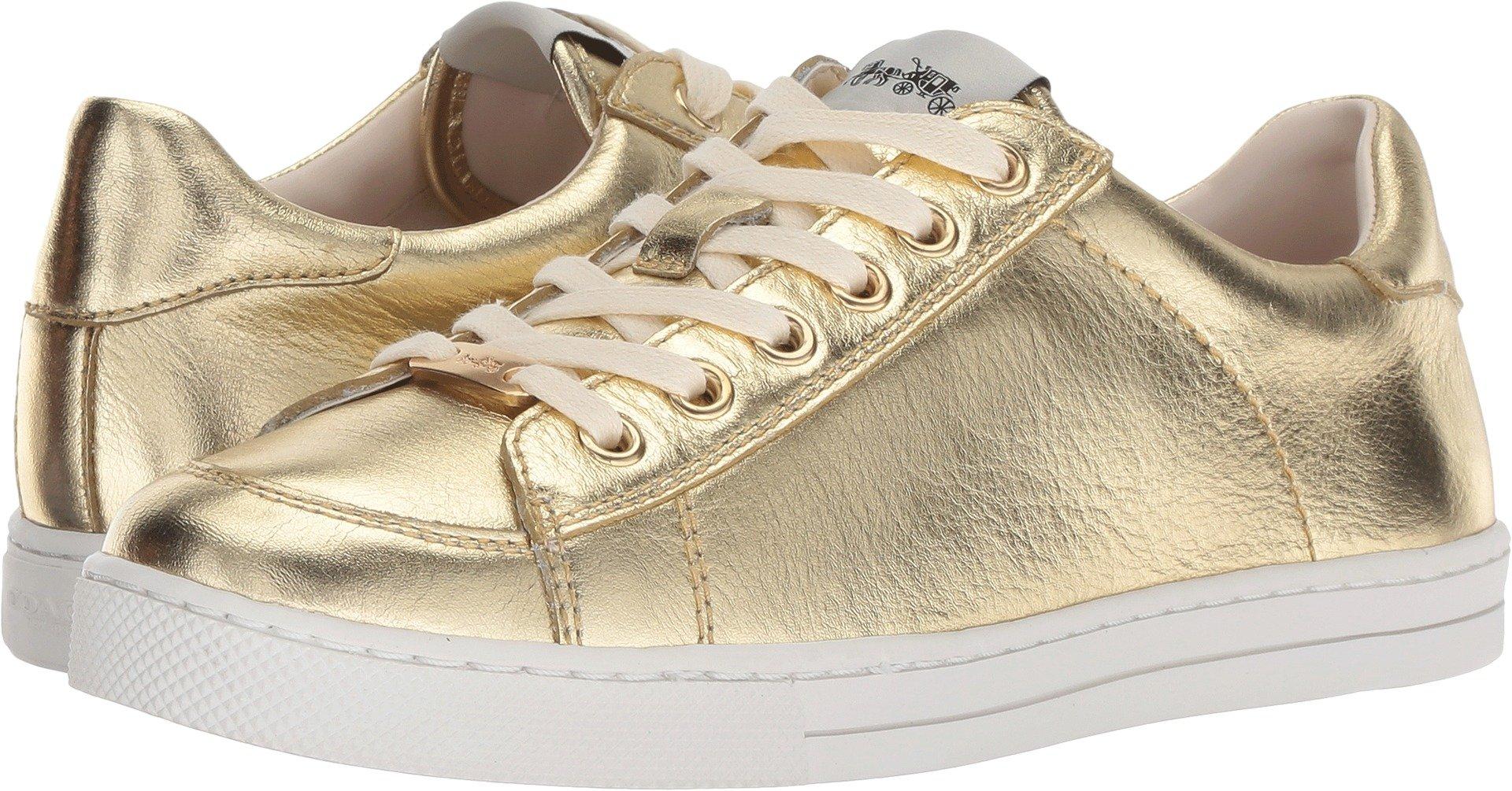 Coach Women's C126 Low Top Sneaker Gold Metallic Leather 7 M US