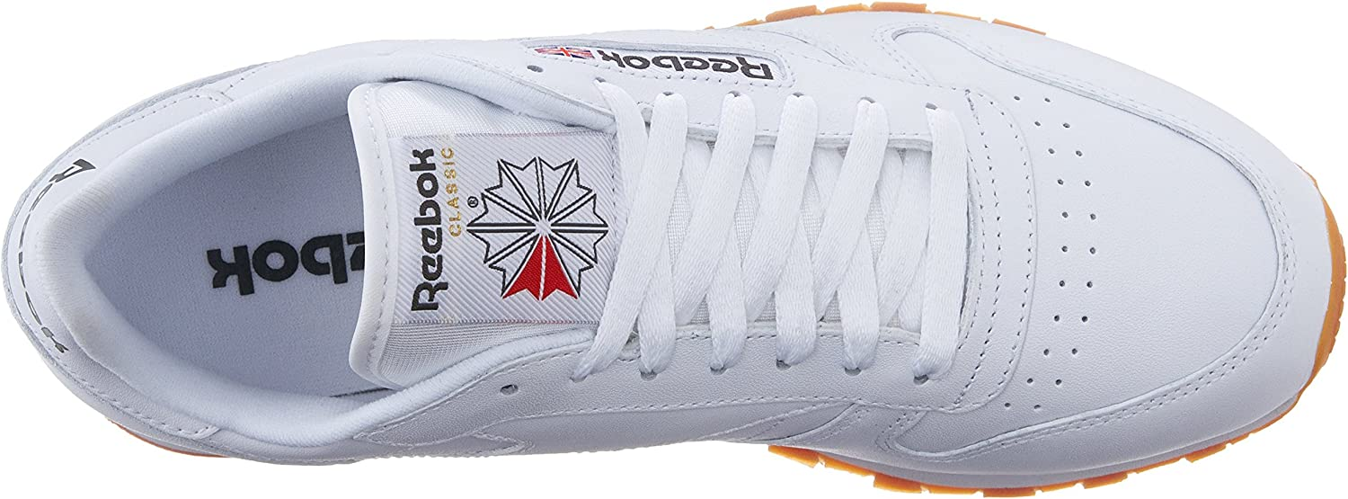 Reebok Classic Leather, Tennis Homme Blanc Gomme