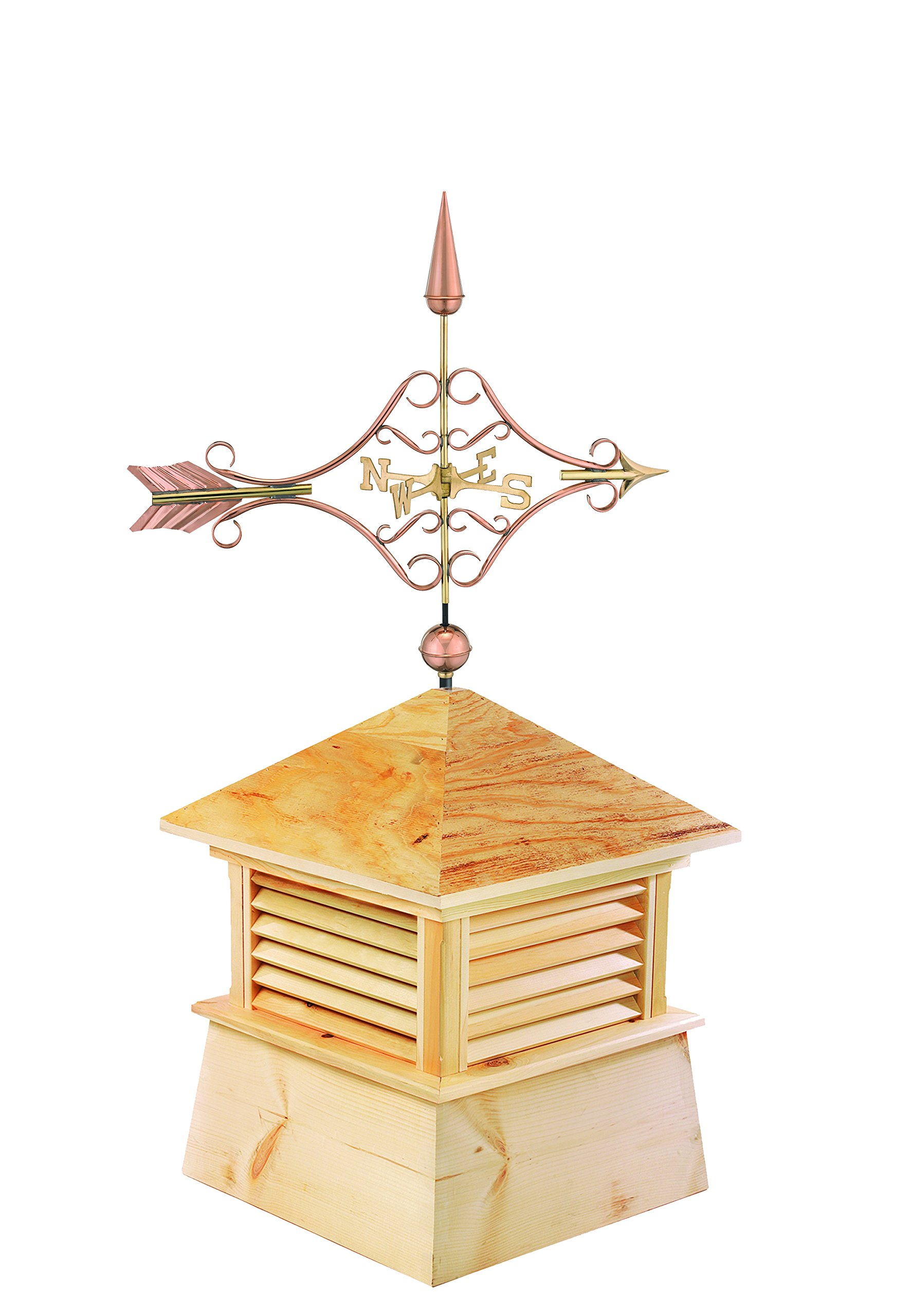 Good Directions 30'' Square Kent Wood Cupola with Standard Victorian Arrow