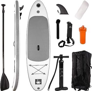 YOUKE Sup Tabla Hinchable de Paddle Surf Ajustable de Aluminio ...
