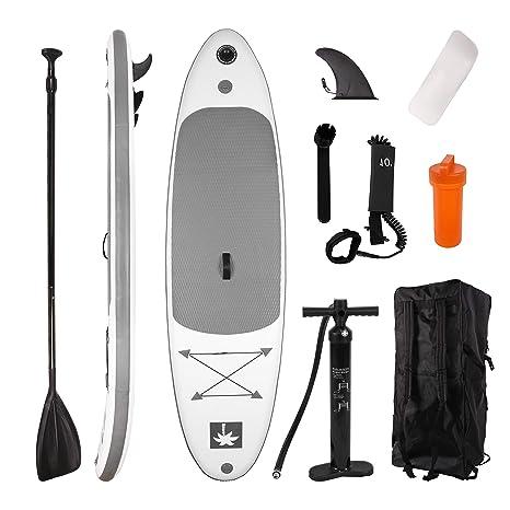 YOUKE Sup Tabla Hinchable de Paddle Surf Ajustable de Aluminio, para Principiante, Accesorios Completos