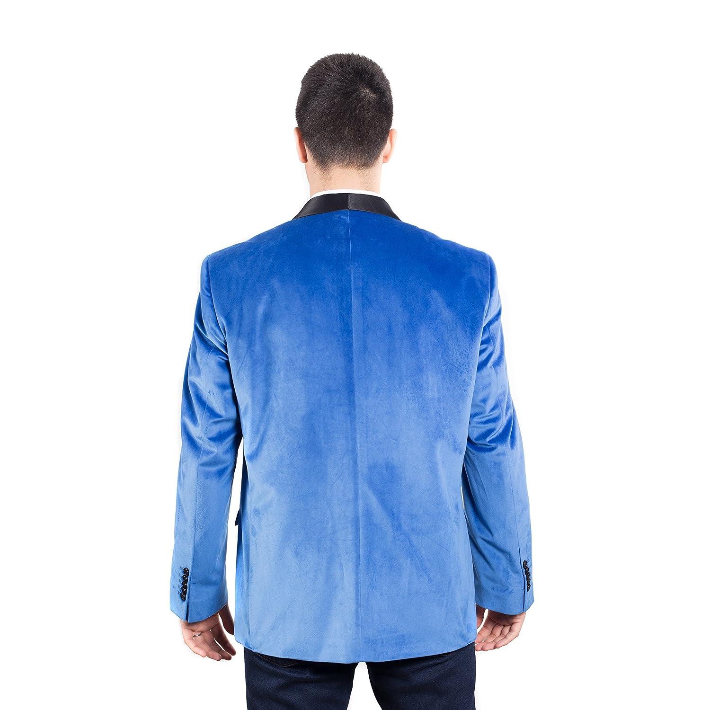 Colors Mens Slim Fit Single Breasted Velvet Formal Tuxedo Dinner Jacket With Shawl