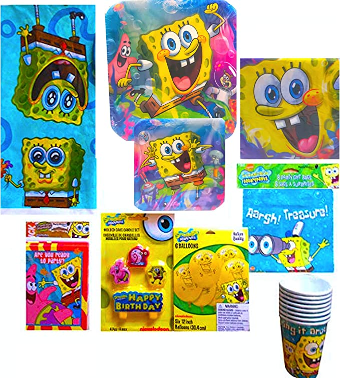 Spongebob Squarepants Party Supplies, Decorations Spongebob Squarepants Stickers Party Favors Pack Bundle ~ 6 Spongebob Character Sticker Packs for Kids Teens
