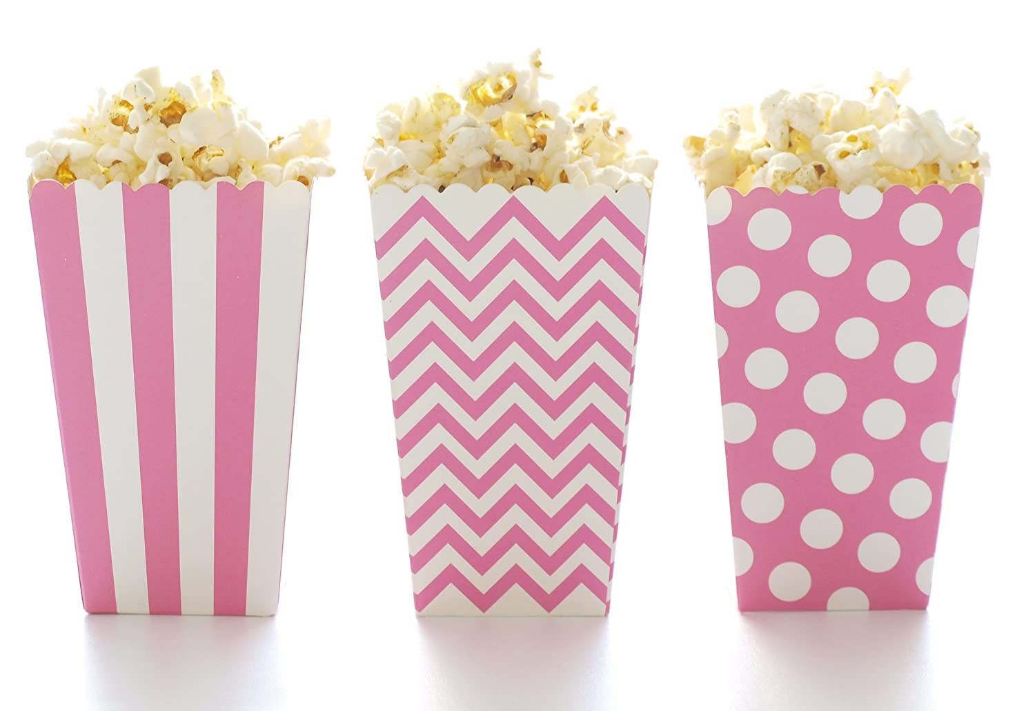 Amazon.com: Popcorn Boxes, Hot Pink Design Trio (36 Pack) - Polka ...