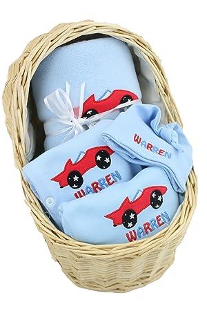 Personalised baby boy gift basket hamper newborn christening baby personalised baby boy gift basket hamper newborn christening baby shower gift negle Choice Image