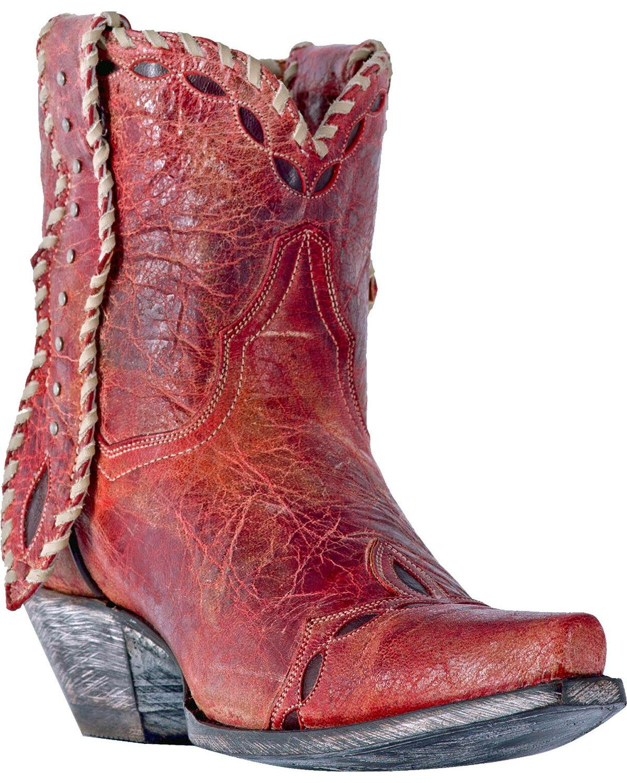 Dan Post Women's Livie Short Boot Snip Toe - Dp3748 B079F1VWTB 10 B(M) US|Red