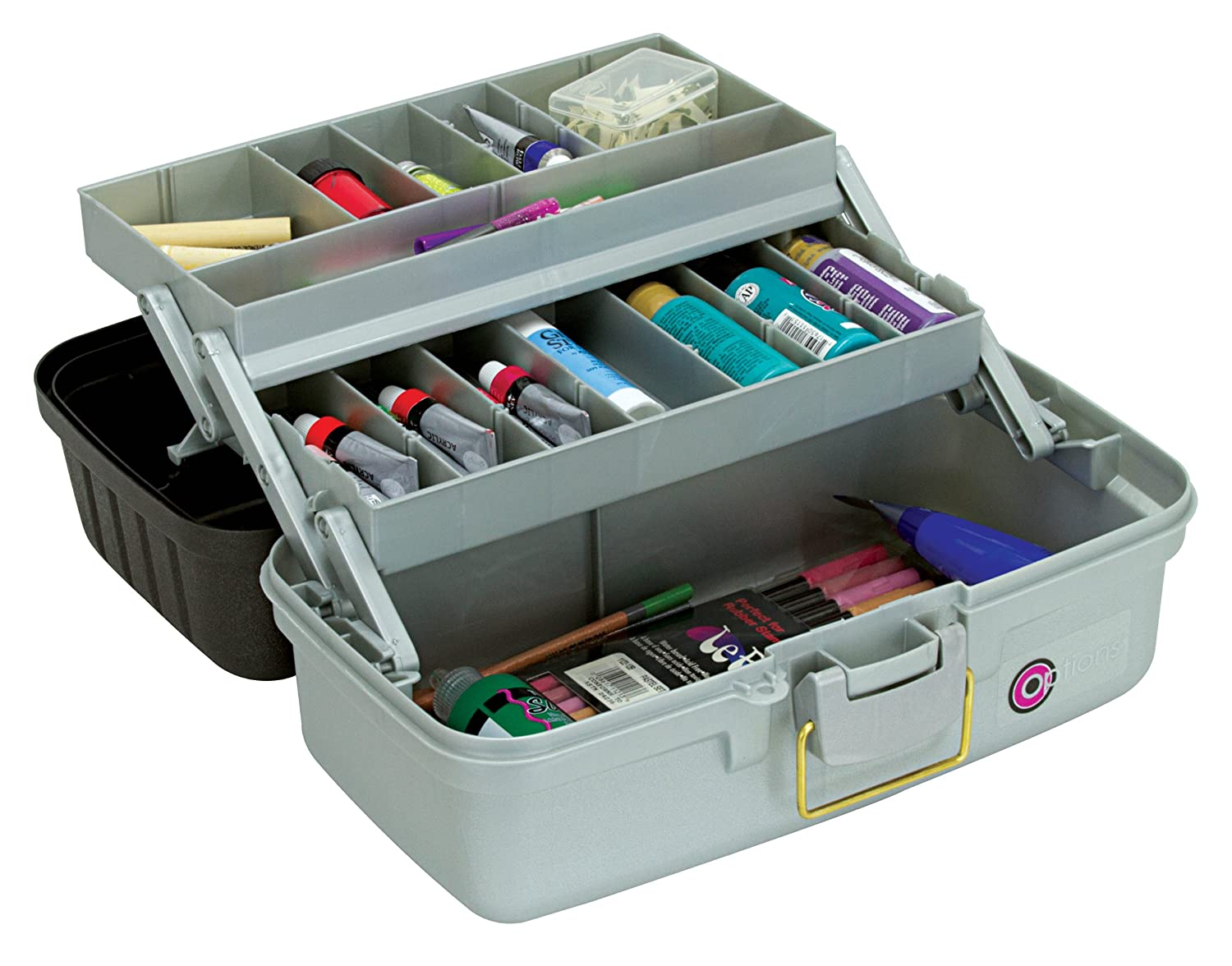 Creative Options 6202-77 Fine Arts 2-Tray Art Box with Auto Open Trays