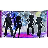 Boland 00738–Banner Banner Disco Party 150x 90cm, mehrfarbig