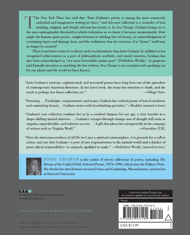 Sea Change: Poems: Jorie Graham: 9780061537189: Amazon com