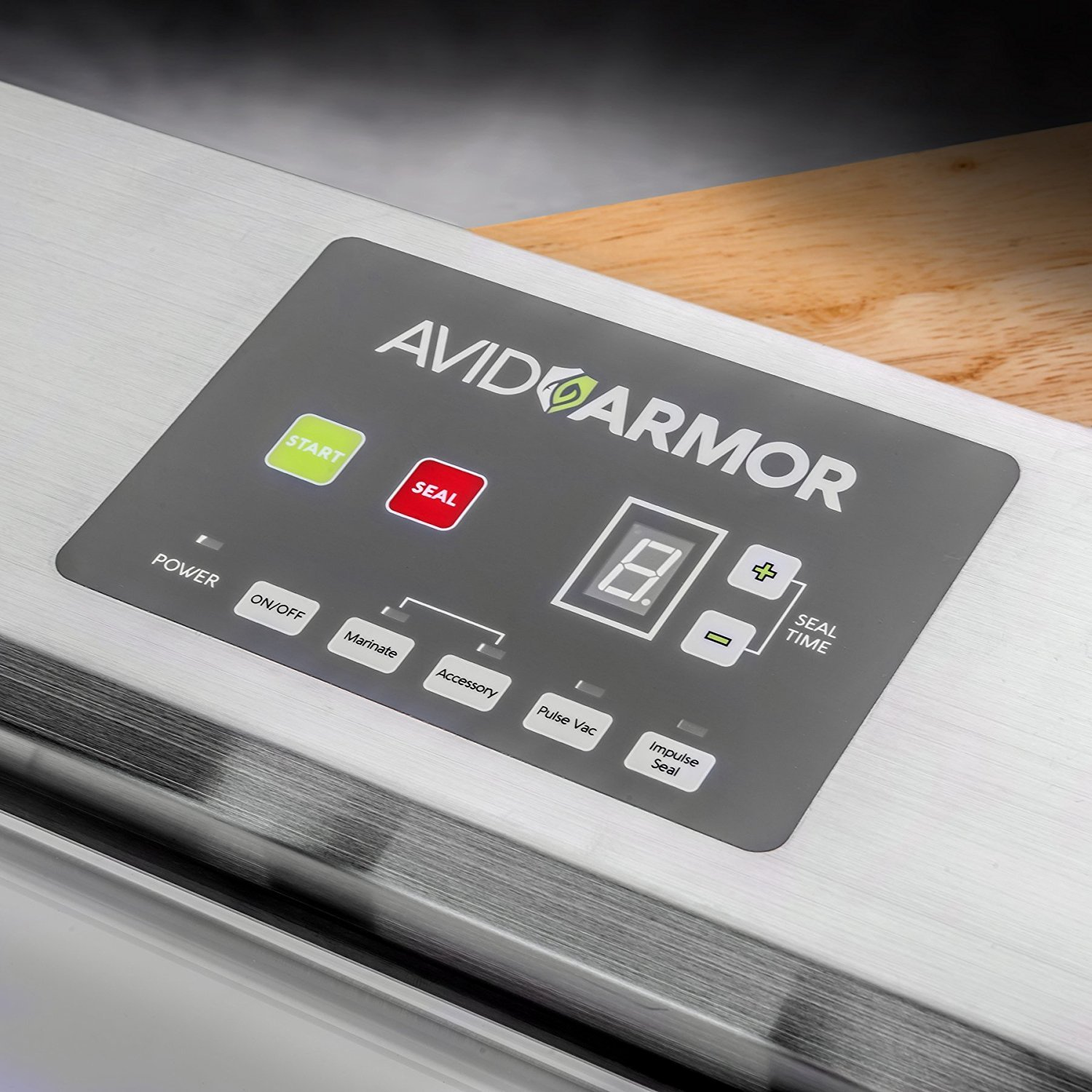 Avid Armor Vacuum Sealer Machine - A100 Stainless Construction, Clear Lid, Commercial Double Piston Pump Heavy Duty 12'' Wide Seal Bar Built in Cooling Fan Includes 30 Pre-cut Bags and Accessory Hose by Avid Armor (Image #4)