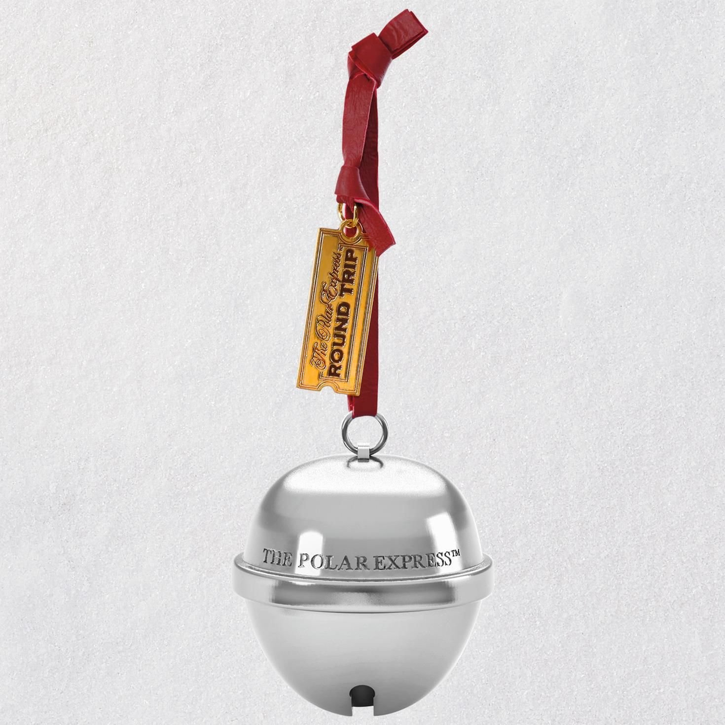Hallmark Keepsake Christmas Ornament 2018 Year Dated, The Polar Express Bell The First Gift of Christmas With Sound