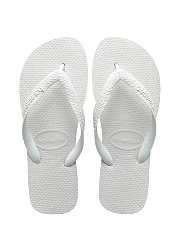8b7c3e3a438 Image Unavailable. Image not available for. Color  Havaianas Top Unisex  Flip Flops Sandals in White - 45-46 BR