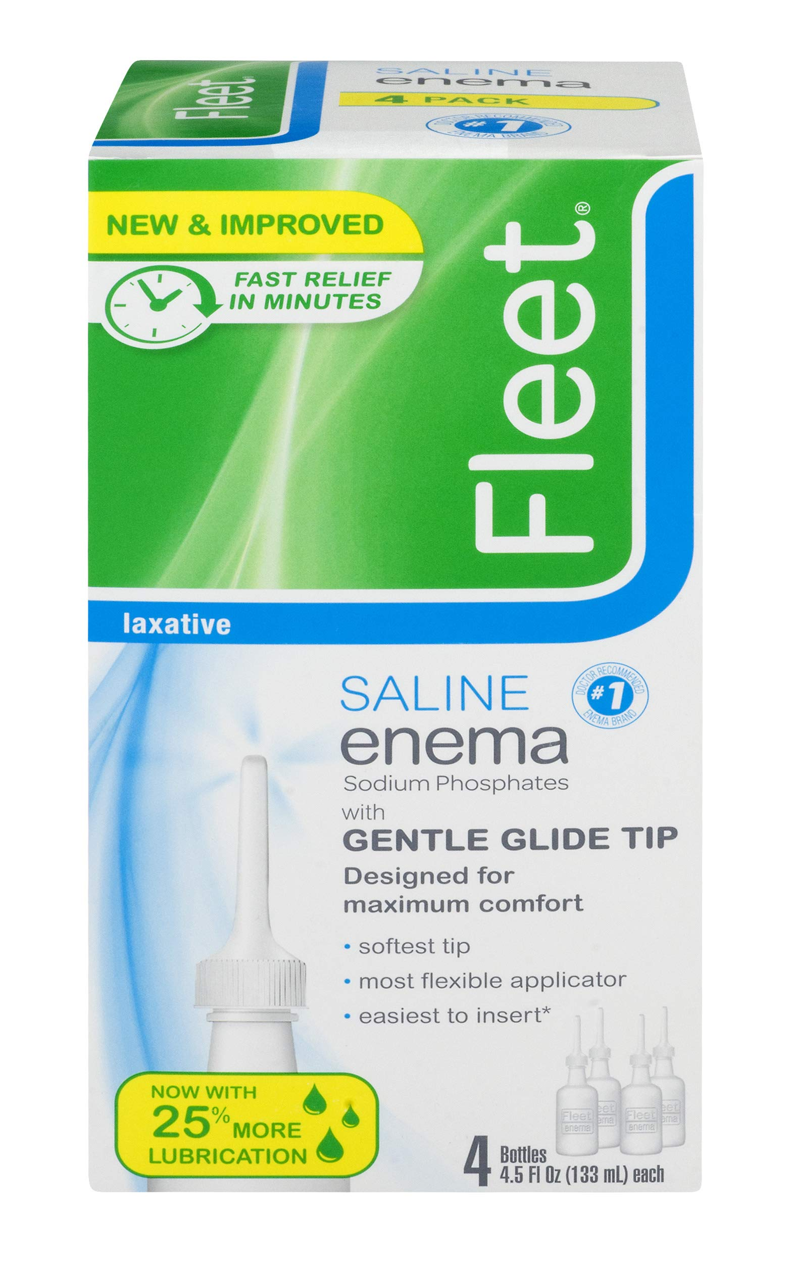 Fleet Laxative Saline Enema | 18 oz | Pack of 6 | Fast Constipation Relief in Minutes by Fleet