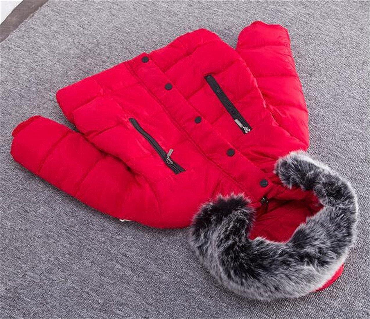 Sweatwater Kids Girls Winter Bubble Warm Jacket Faux Fur Hood Outwear Coats