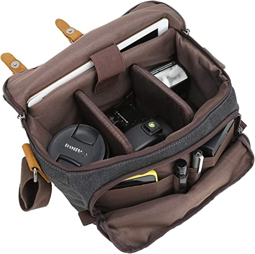 Outdoor Product//Fashion Bag Camera Bag Waterproof Shoulder Photography Waterproof Canvas Men and Women Shoulder Bag Camera Liner Suitable for Canon SLR Digital Package