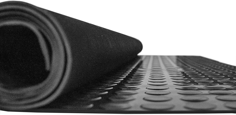 ANRO Gummimatte Schutzmatte Noppenmatte Bodenmatte mit Noppen Gummil/äufer 120cm Breit 3mm stark Schwarz 140 x 120cm