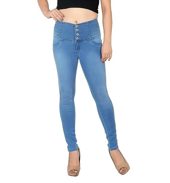 fb4f9cf3186 FCK-3 Women s Designer High Waist Stretchable Denim Jeans  Amazon.in ...
