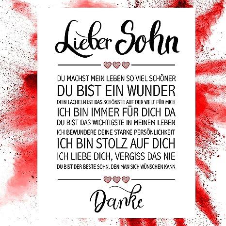 Close Up Bester Sohn Danke Zitate Poster Deko Geschenk Zum Geburtstag Weihnachten Abschluss Jeden Tag 30 X 40 Cm Premium Qualität
