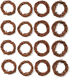 Darice Grapevine Wreath Natural 4 inches (12-Pack) GPV4