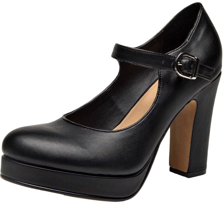 Amazon.com   Women Wide Width Heel Pump - Mary Jean Ankle ...