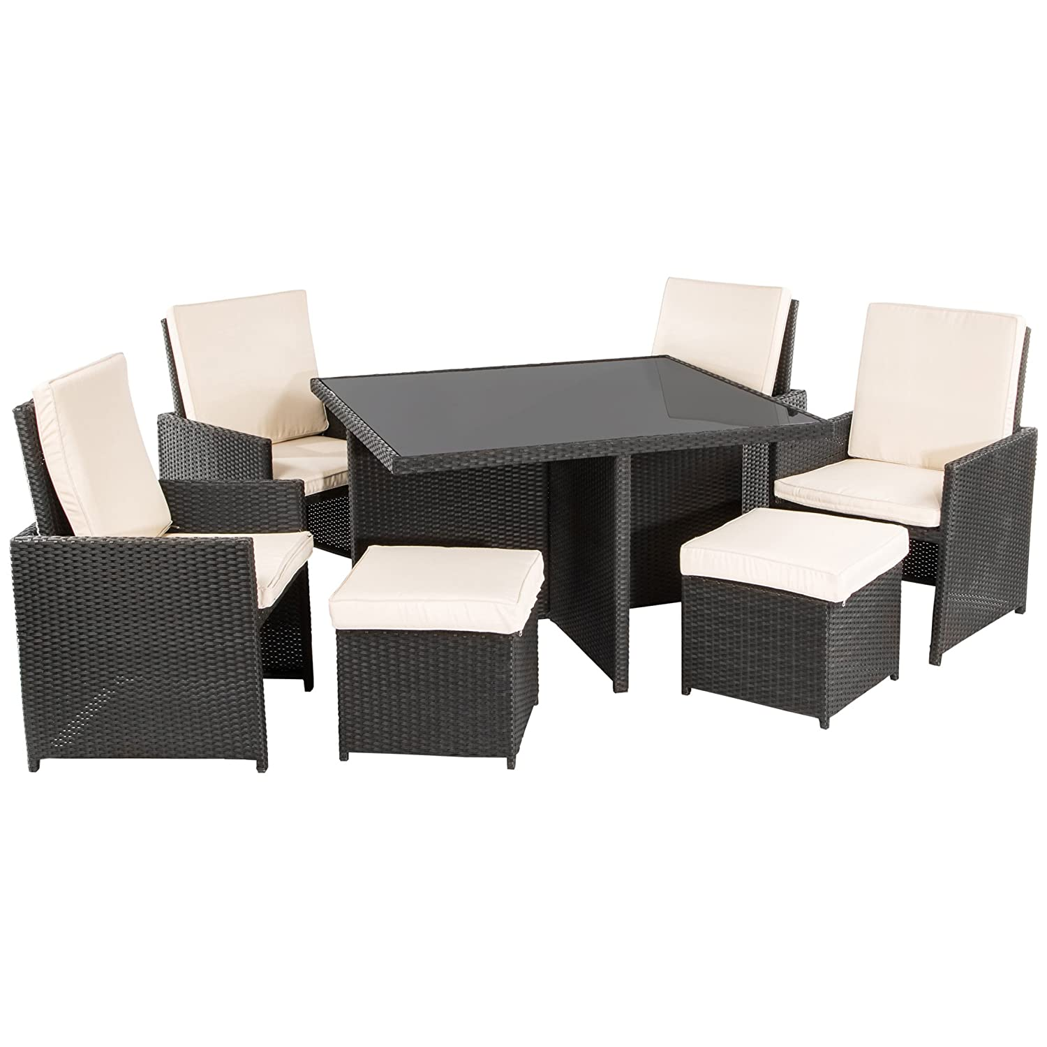 ultranatura poly rattan lounge set palma serie 9 teilig. Black Bedroom Furniture Sets. Home Design Ideas